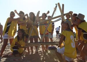 Catapultas, actividad de team building de Creativando