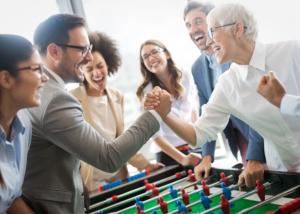 Campeonato de futbolín, actividad de team building de Creativando