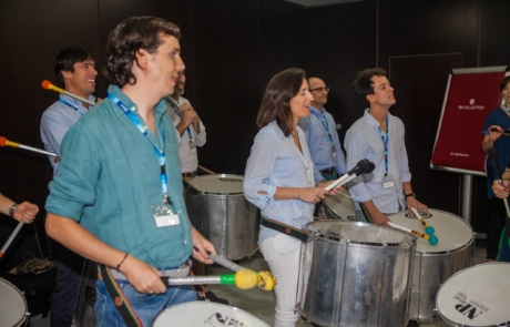 Taller de percusión para empresas - Team Building